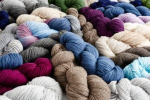 Gorgeous colors and a wide range of yarn sizes and content.