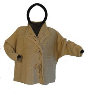 This cardigan is one of the garment patterns from More Hand-Manipulated Stitches. It features a double I-cord application all around and...
